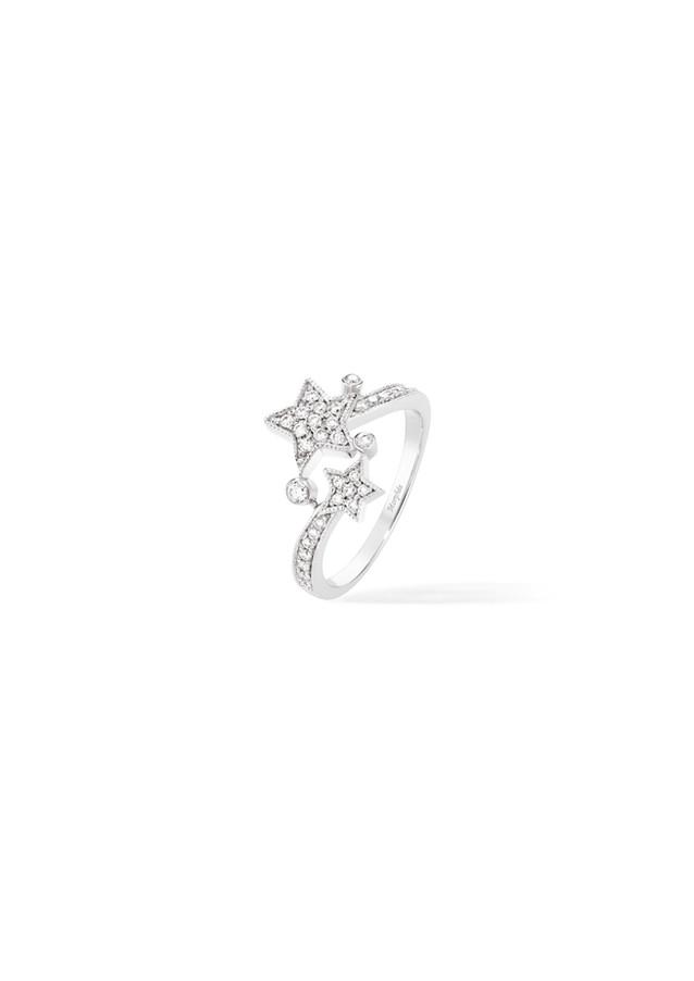 Bague en diamants blanc