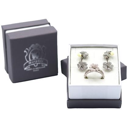 Coffret Cadeau Fleurs de Cerisier Blanc & Bois D'or