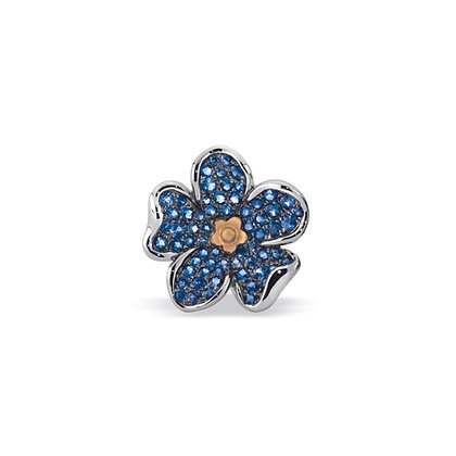 forget-me-not large flower ear stud front view