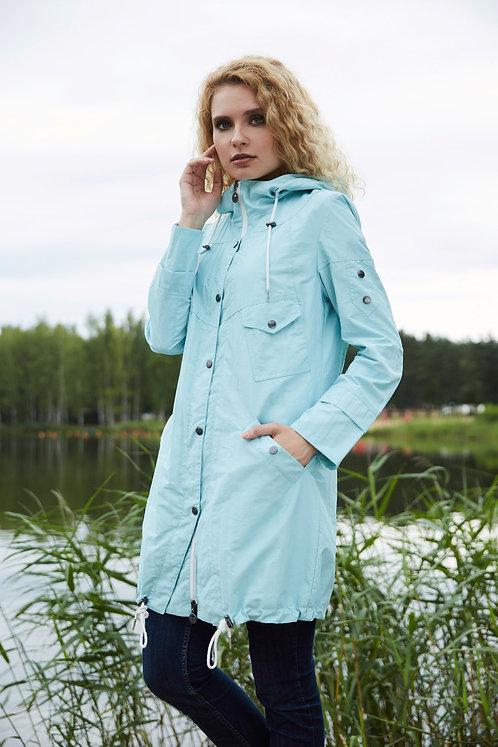 Женская осенняя финская куртка,парка Scanndi finland BW2810 (ментол)