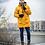 Удлиненная мужская зимняя финская куртка Scanndi finland DM2031 (желтый)