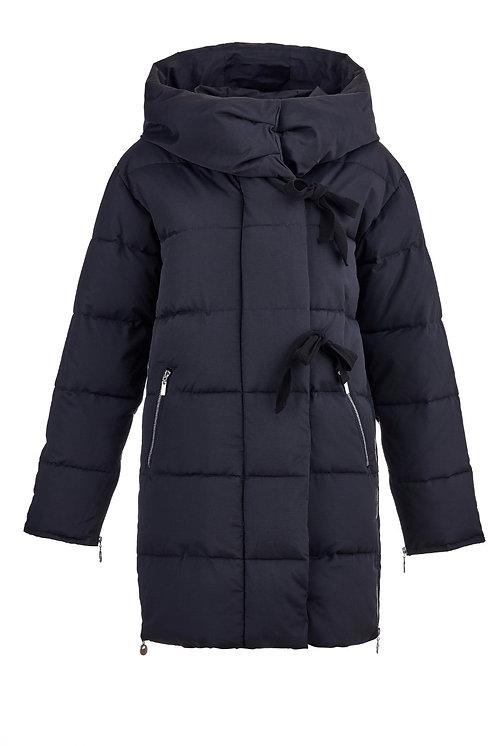 Женская зимняя стильная куртка Scanndi finland dw19040a (черный)