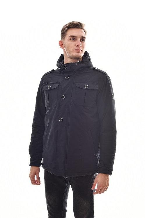 Хлопковая мужская весенняя куртка, бомбер Scanndi Finland CM29019 (черный)