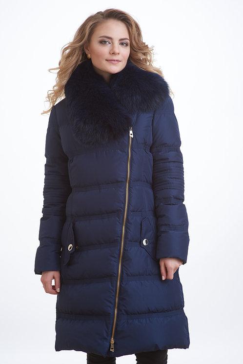 зимняя женская куртка, пальто scanndi finland DW1808 (синий)