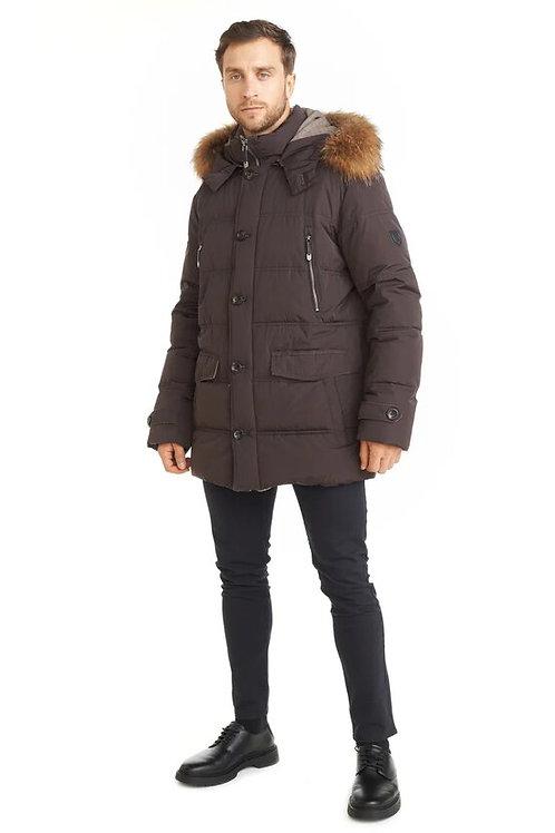 Зимняя коричневая мужская финская куртка Scanndi finland DM19002b
