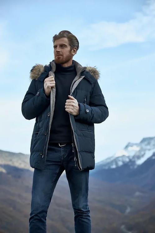 Удлиненная куртка Scanndi finland DM19002a (темно-синий)