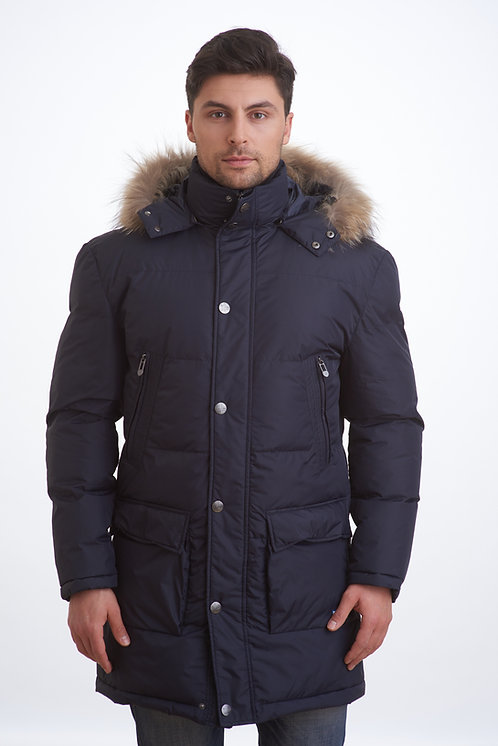 мужская зимняя куртка, пальто Scanndi finland DM1821 (темно-синий)