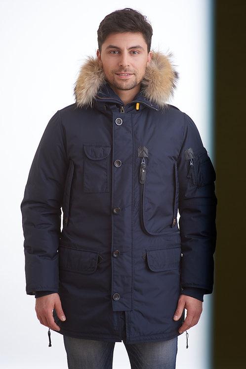 мужское зимнее пальто-пуховик Scanndi DM1823 темно-синий