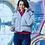 Укороченная женская зимняя серая куртка Scanndi finland DW19086 (модель 2019 года)