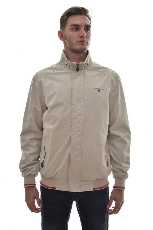 Мужская весенняя хлопковая куртка, бомбер Scanndi Finland BM29025 (бежевый)