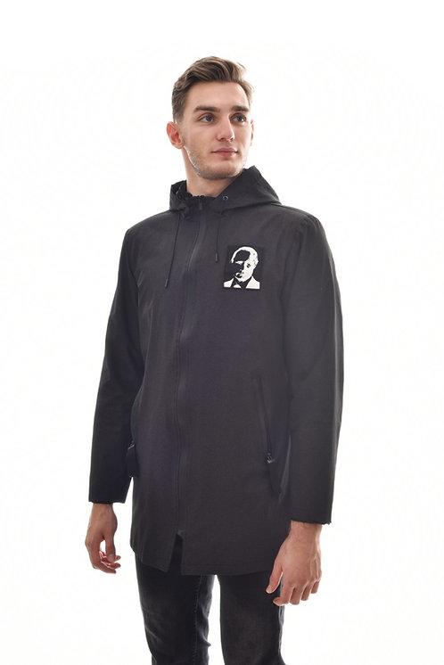 Мужская весенняя хлопковая куртка, бомбер Scanndi Finland BM29059a (темно-синий)