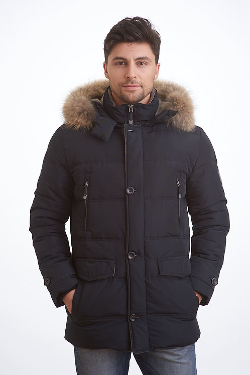 Зимняя удлиненная мужская курткаScanndi finland DM19002a черный