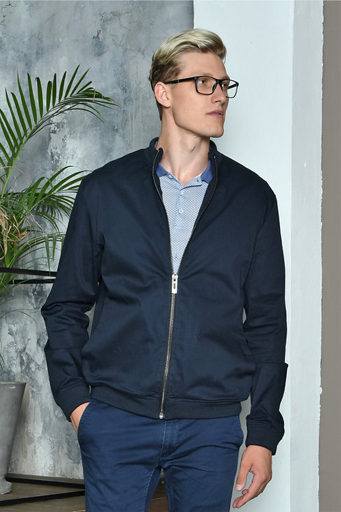 Мужская весенняя хлопковая куртка, бомбер Scanndi Finland CM29071 (темно синий)