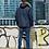 Удлиненная мужская зимняя темно-бирюзовая куртка, аляска Scanndi finland DM19098a