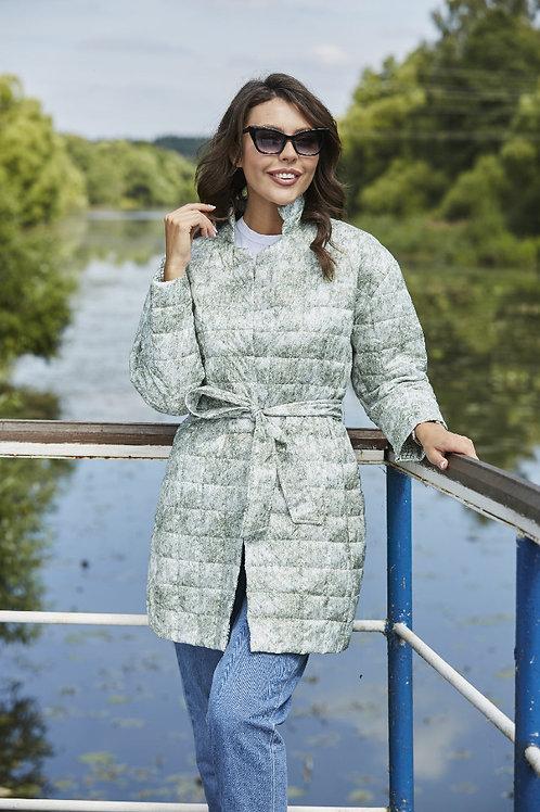 Женская весенняя хлопковая куртка, бомбер Scanndi Finland CW2972 (ментол)