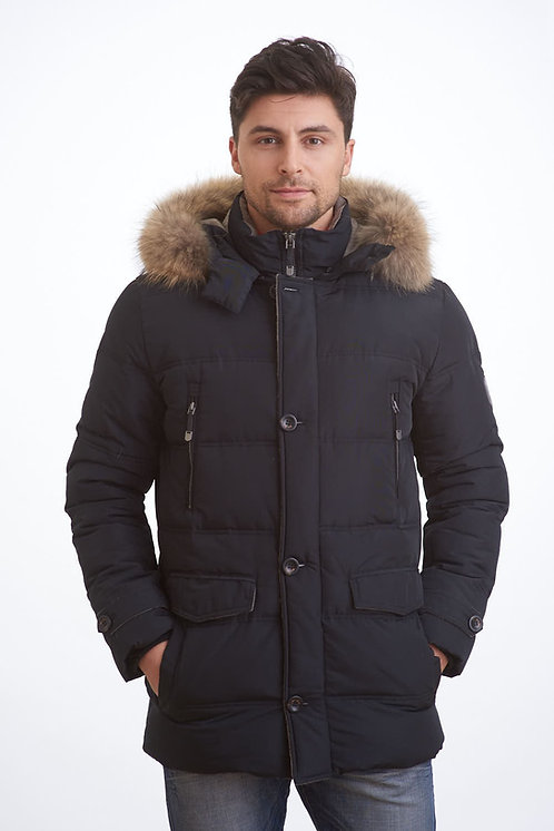 Зимняя черная мужская финская куртка Scanndi finland DM19002b