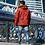 Удлиненная зимняя куртка Scanndi finland DM19098b (терракот)