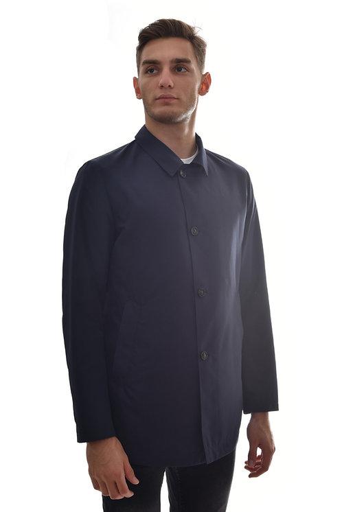 Мужская весенняя хлопковая куртка, бомбер Scanndi Finland BM2993 (темно синий)