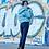 Женская зимняя куртка Scanndi finland DW19086 (голубой)