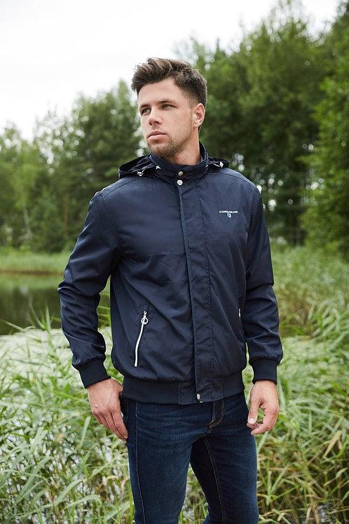 Мужская осенняя финская куртка,бомбер Scanndi finland BM2861 темно-синий