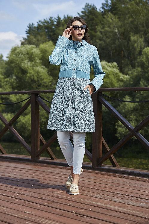 Куртка-плащ Scanndi finland PW29058 (голубой)