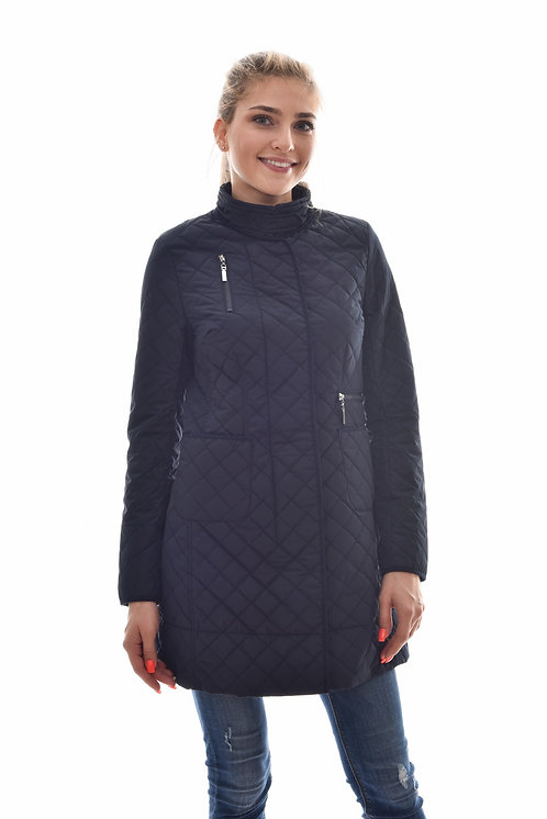 Женская весенняя курткаScanndi Finland CW29096 (темно синий)