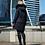Женскоезимнее пальто Scanndi finland DW19004 (темно-синий)