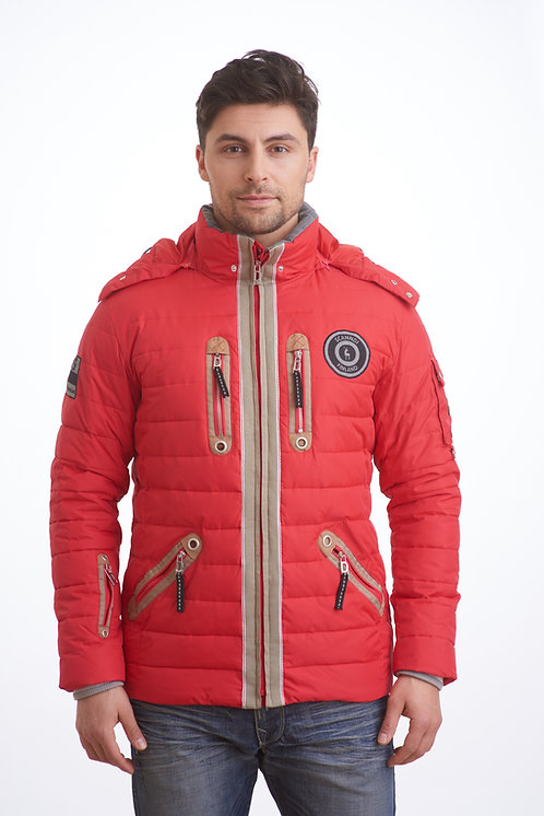 мужская зимняя куртка, пуховик Scanndi finland DM1847 (красная)