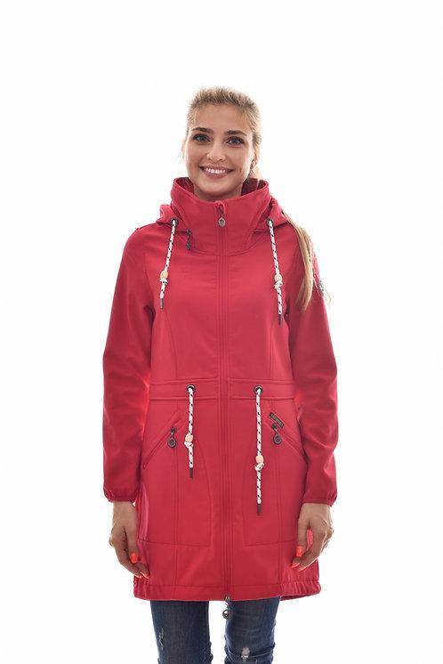 Женская весенняя хлопковая куртка, бомбер Scanndi Finland BW29044 (брусника)