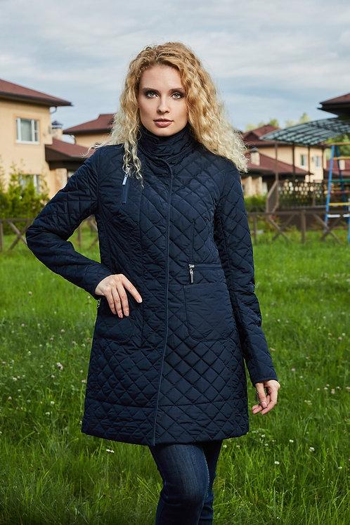 Женская осенняя финская куртка Scanndi Fianland CW2896 темно-синий