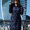 Женское зимнее стеганное пальто Scanndi finland DW19028 (темно-синий)