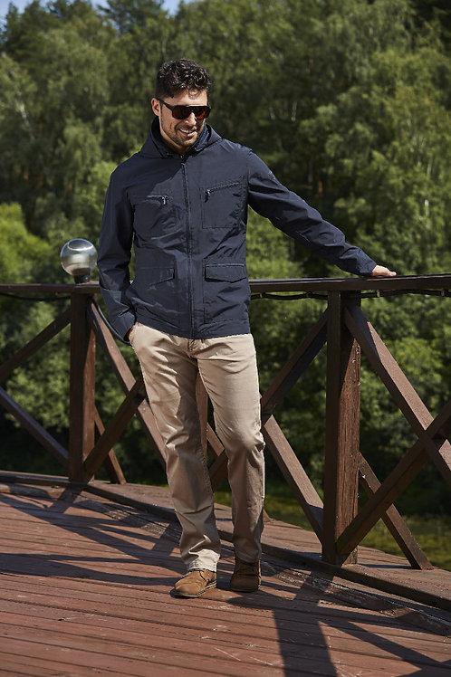 Мужская весенняя хлопковая куртка, бомбер Scanndi Finland BM29057 (темно-синий)