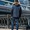 Удлиненная зимняя куртка, аляска Scanndi finland DM19098b (темная бирюза)