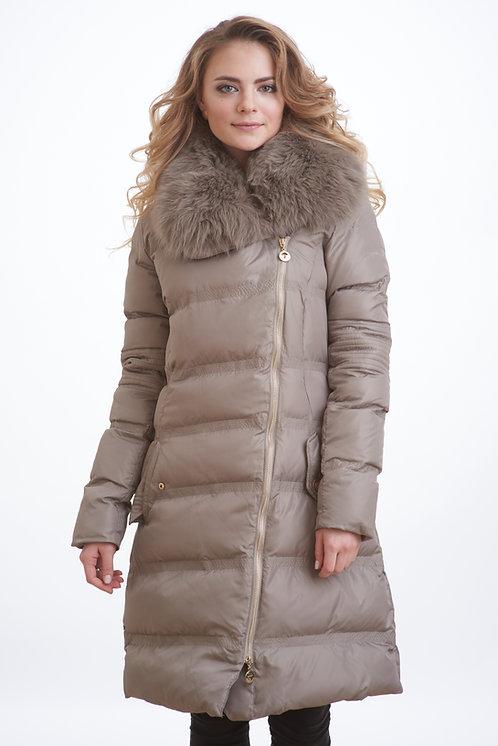 зимняя женская куртка, пальто Scanndi finland DW1808 (бежевый)