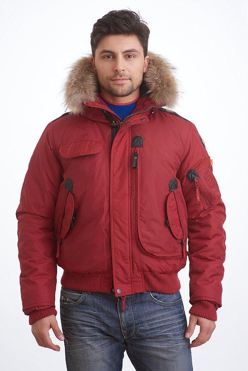 мужская зимняя куртка, аляска Scanndi finland DM1897 (красный)