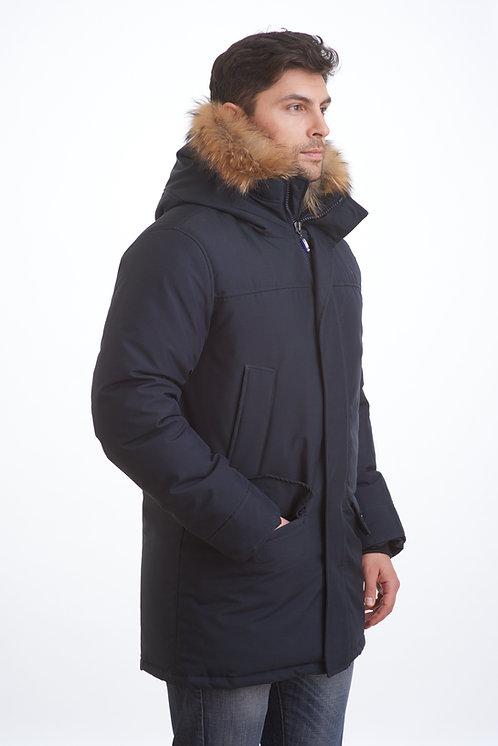 зимняя мужская  куртка, аляска Scanndi finland DM1843 темно-синий