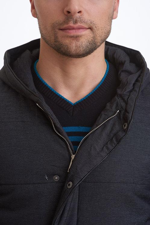 мужская зимняя куртка, парка scanndi-finland DM1820a (черный)