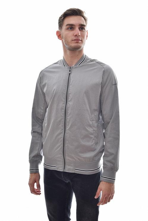 Мужская весенняя хлопковая куртка, бомбер Scanndi Finland BM29069 (серый)