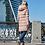 Удлиненная куртка, пальто Scanndi finland DW19030 (розовый)