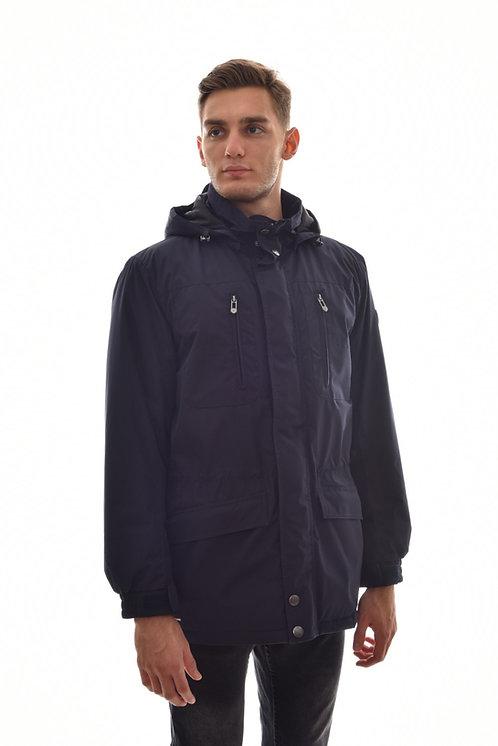 Мужская весенняя хлопковая куртка, бомбер Scanndi Finland CM29003 (темно синий)