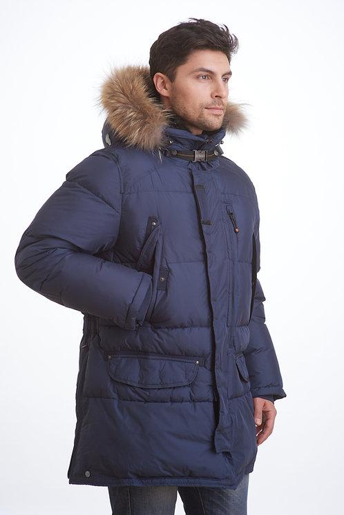 мужское зимнее пальто, аляска Scanndi DM1835 темно-синий