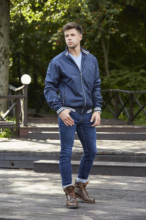 Мужская весенняя куртка, бомбер Scanndi Finland BM29125 (темно-синий)