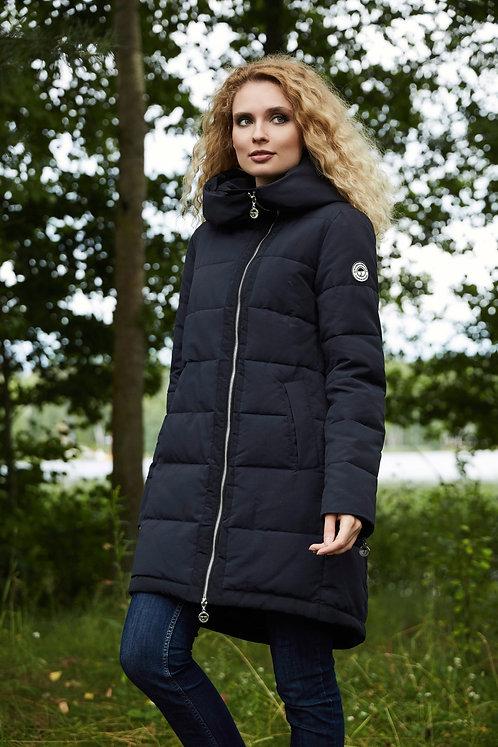 Женская осенняя финская куртка, плащ Scanndi finland CW2878 темно-синий