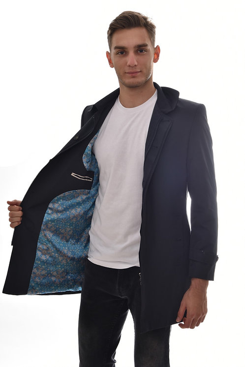 Мужская весенняя хлопковая куртка, бомбер Scanndi Finland BM2977 (темно синий)