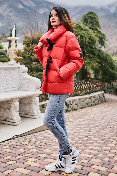 Женская зимняя стильная куртка Scanndi finland DW19040b (красный)