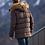 Удлиненная куртка Scanndi finland DM19002a (темно-коричневый)