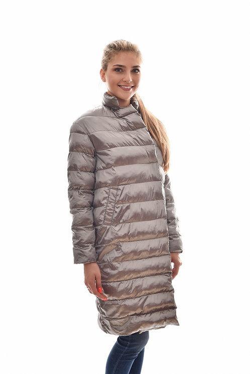 Женская весенняя хлопковая куртка, бомбер Scanndi Finland CW2938 (серебро)