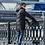 Мужская зимняя подростковое пальто Scanndi finland DT19021b (черный)
