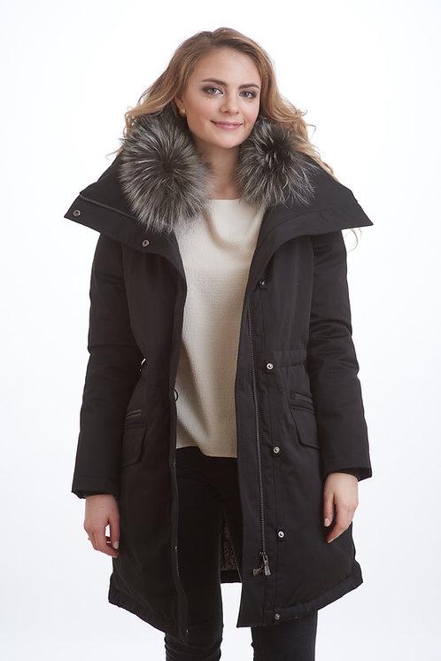зимняя женская парка, пальто Scanndi finland DW1810 (черный)