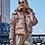 Укороченная женская куртка Scanndi finland DW19086 (розовый)